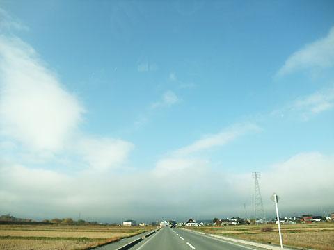 空の写真(伊那市、高遠線)