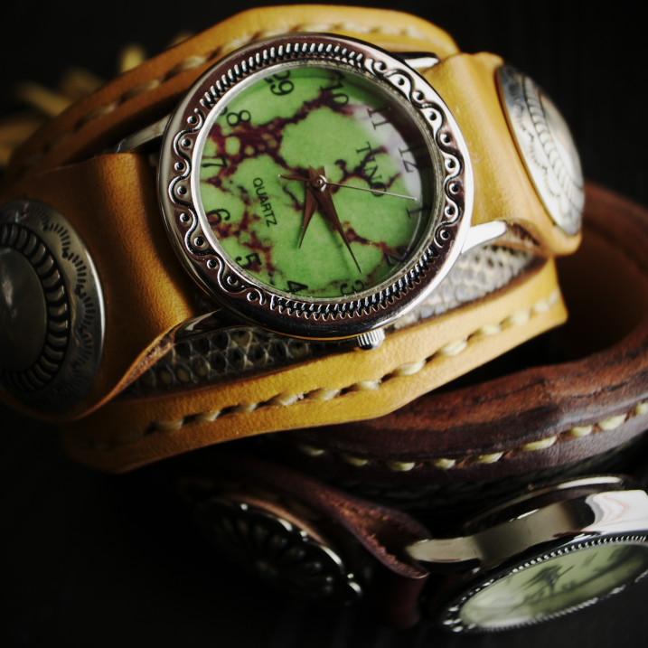 革のごっつい腕時計(革次朗)