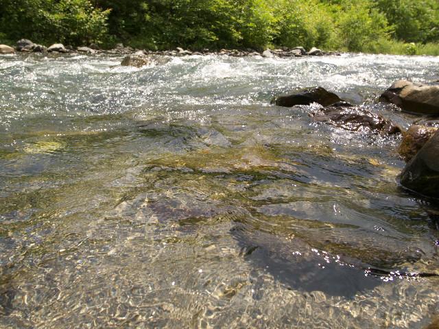 木曽の川(塩尻市)