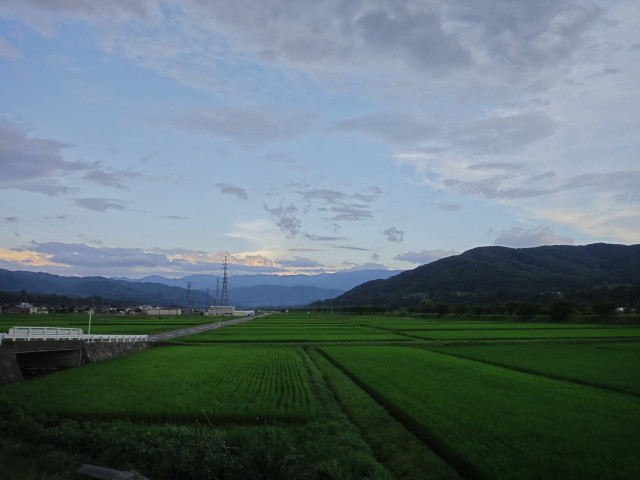 [空の写真] 夕景(伊那市)