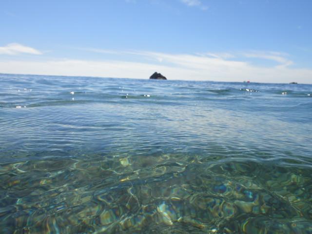 佐渡島旅行、④(入崎海水浴場) - 2010/8/11(水)