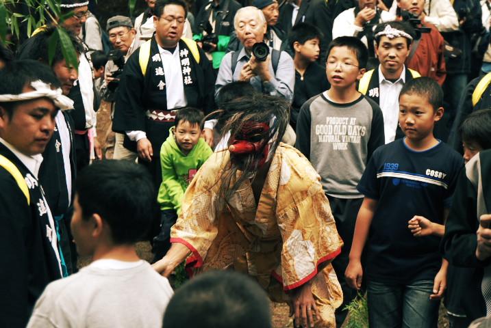 神明神社例祭のお舟祭り(天狗祭り)(辰野町) - 2010/10/17(日)