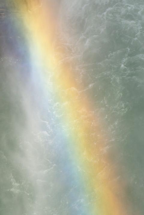 高遠ダムの放流と彩虹(伊那市高遠町) - 2011/4/24(日)