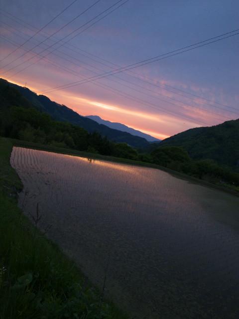 [空の写真] 山懐の日暮れ(伊那市長谷) - 2011/5/19(木)