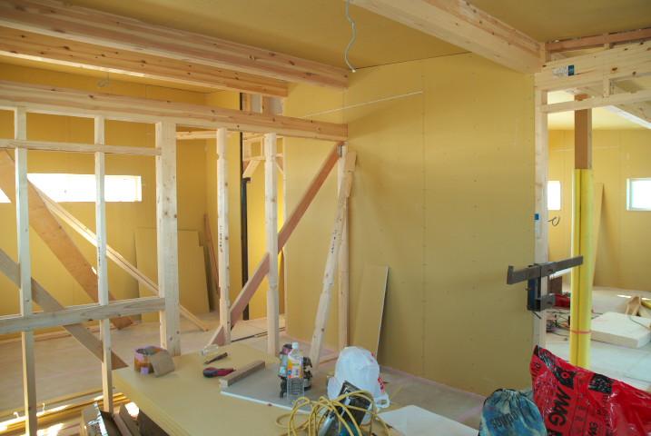 [工事進捗] 家の中に壁が付いた! - 2011/12/17(土)