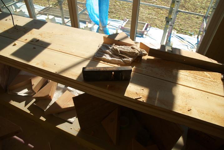 [工事進捗] 階段造作中!+キッチンが設置された! - 2011/12/24(土)