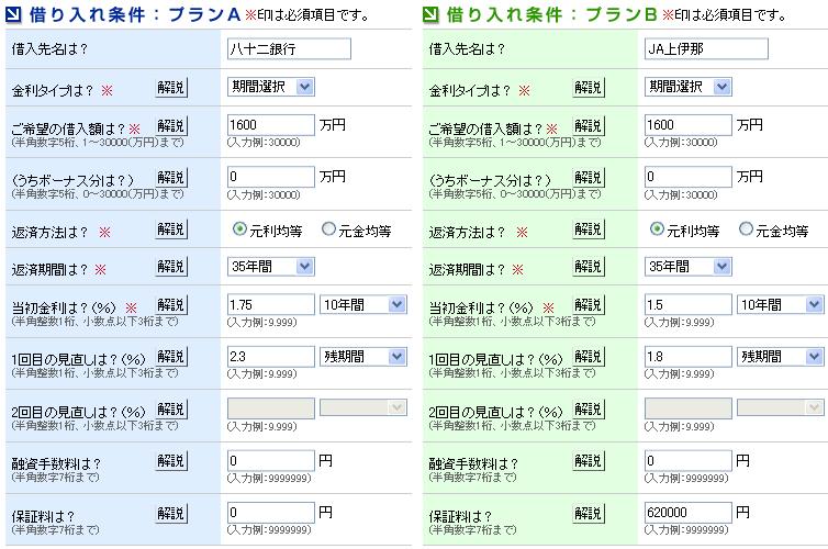 [固定金利選択型] JA上伊那 Win!×八十二銀行 Lose!(伊那市) - 2011/6/21(火)