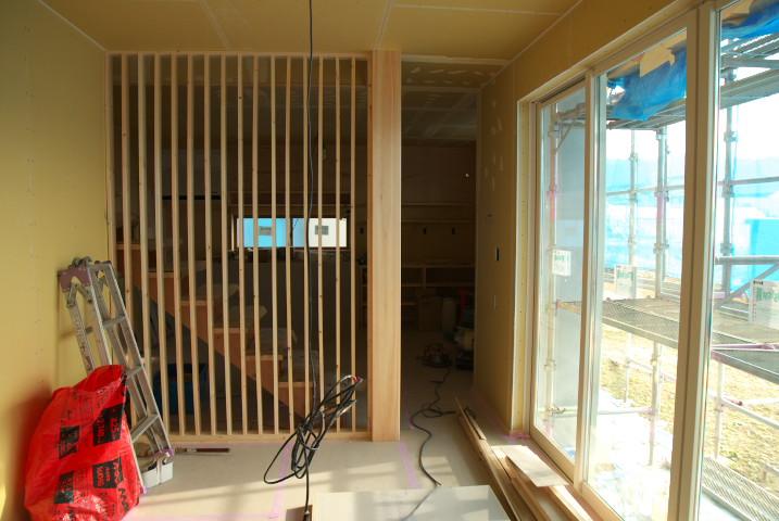 [工事進捗] 階段にルーバーが付いてたー - 2012/1/1(日)