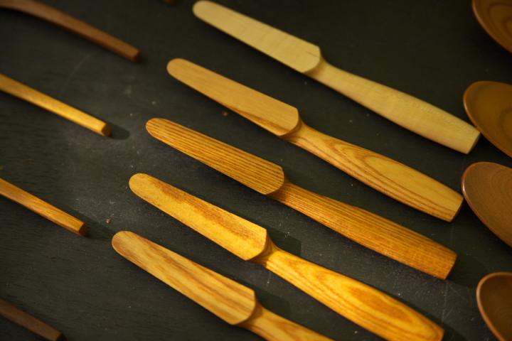 木のバターナイフ(まうち工芸)