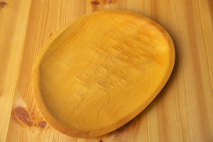 木のお皿(工房 木まぐれ)