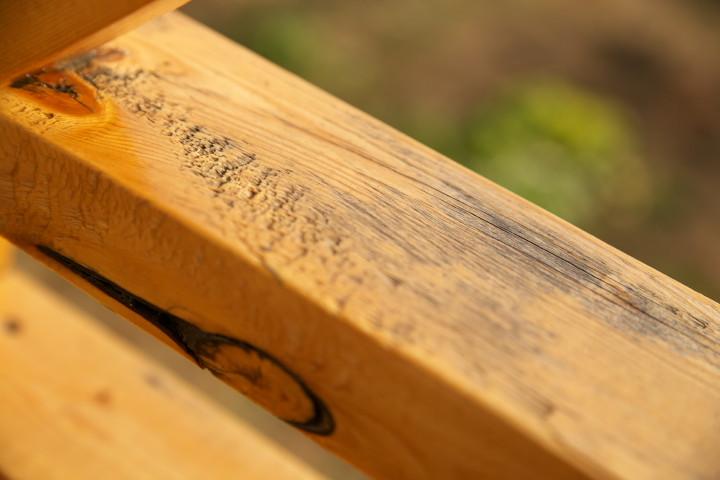 [外壁木部のメンテ2] 南面の二階(オスモカラー) - 2012/12/2(日)