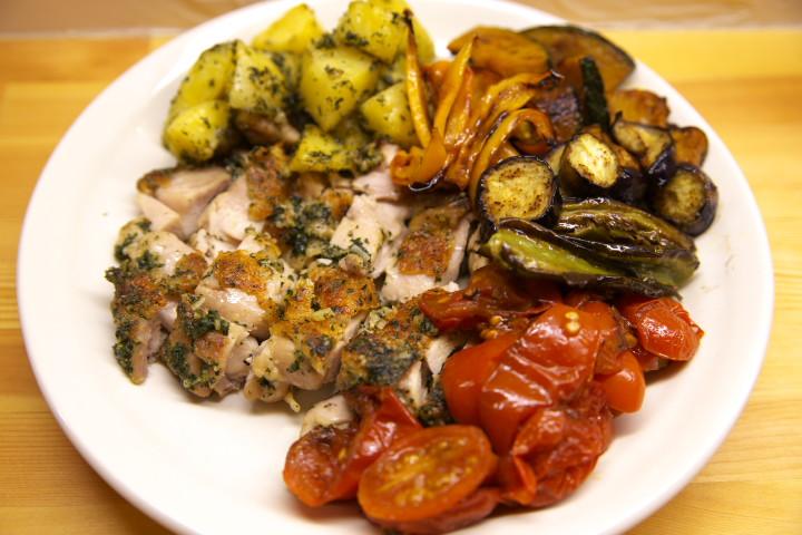 鶏胸のシソベーゼ焼き+たんまり野菜添え
