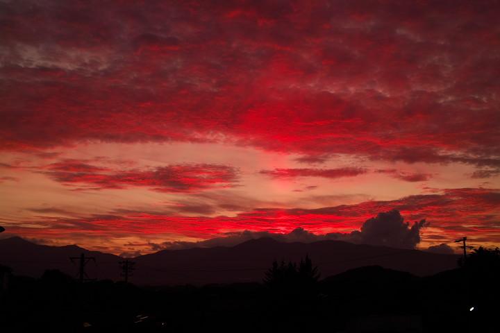 伊那市の夕焼け