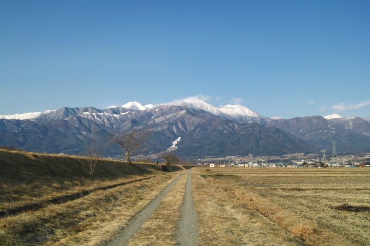 [空の写真] 通勤路(伊那市) - 2012/2/10(金)