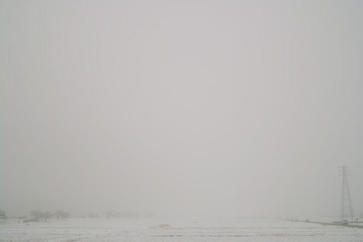 [空の写真] グラオニの見えない通勤路(伊那市) - 2012/2/14(火)