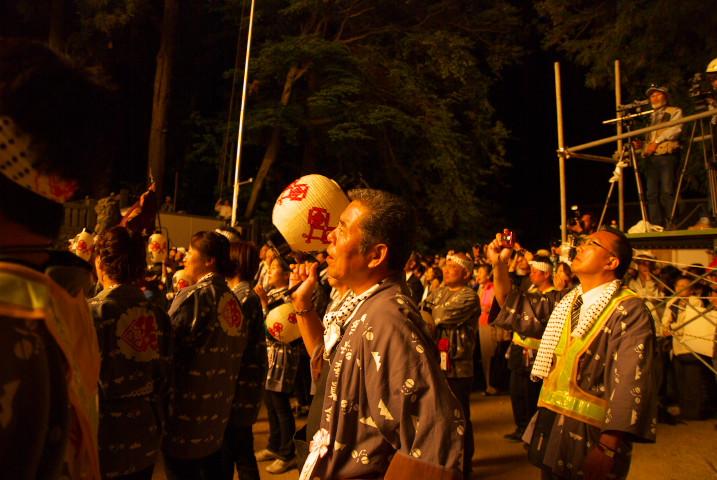 五十鈴神社の三国煙火(駒ケ根市)- 2013/9/23(月)