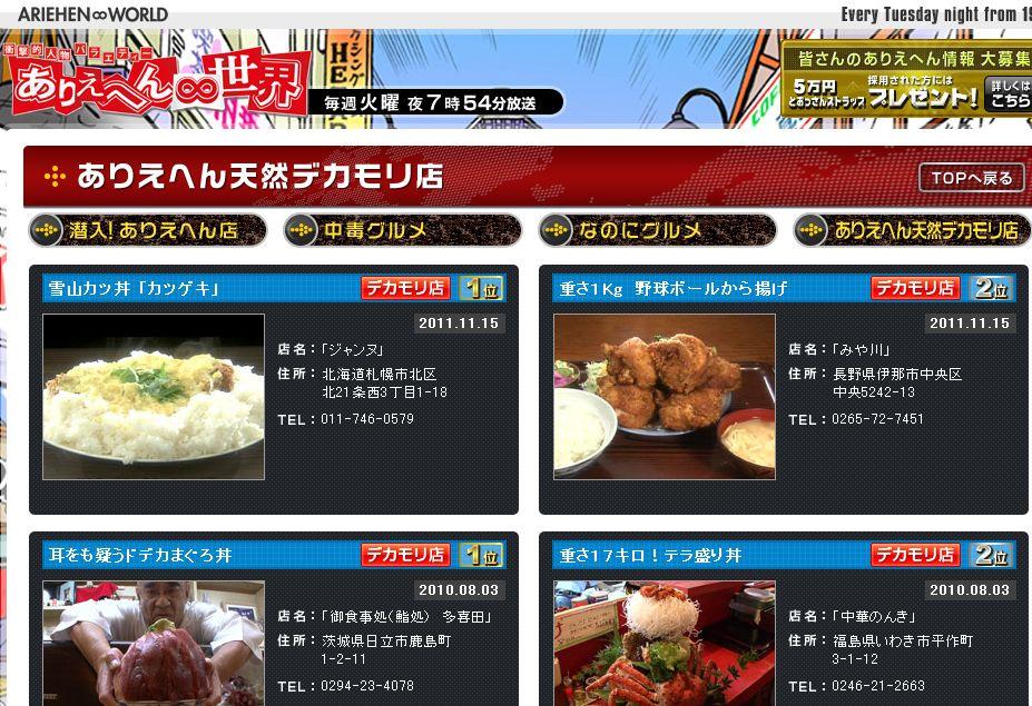 みや川@ありえへん∞世界(テレビ東京)
