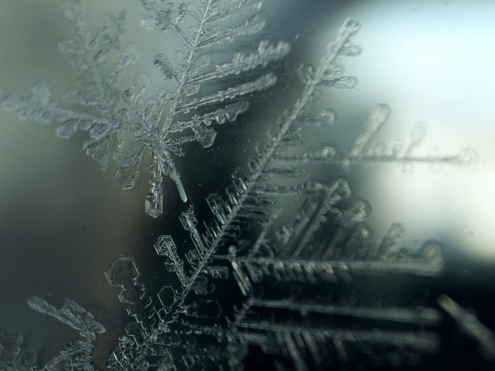 雪花模様の硝子