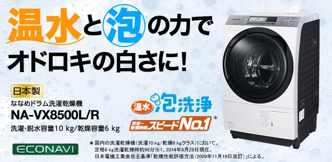 ななめドラム洗濯乾燥機 NA-VX8500R(パナソニック)
