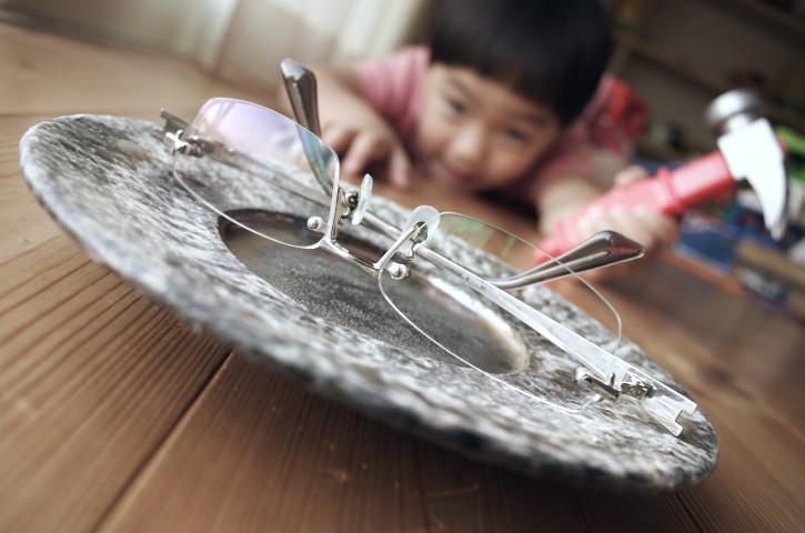 銀の皿(陶工房 つばめ)