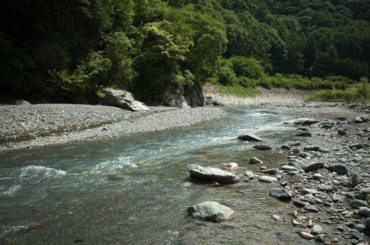 [川遊び] 三峰川(伊那市長谷)
