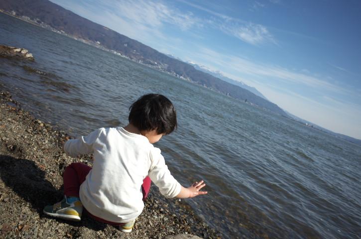 諏訪湖岸の公園をはしご