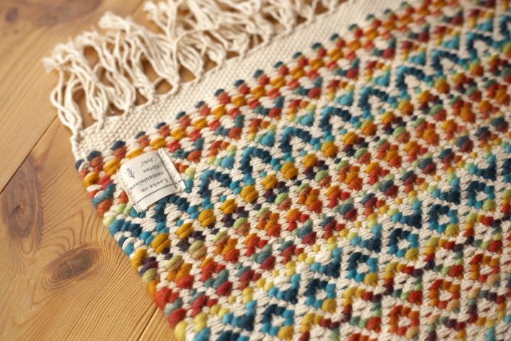 [くらふてぃあ杜の市] 手織りのマット(ヨキ)